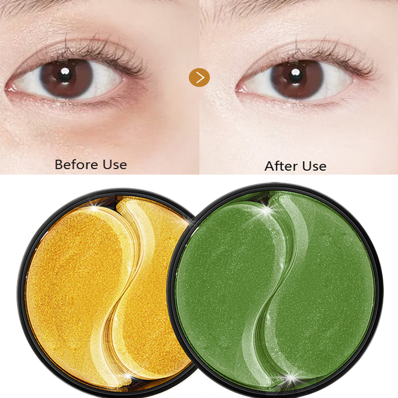 60pcs Crystal Collagen Eye Patches Anti-wrinkle Gold Eye Mask Gel For Eyes Care Moisturizing Essence Dark Circles Removal Mask