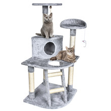 Ship From Us 50 Cat Tree Tower Condo Scratching Furniture Kitten Pet House Hammock Toy For Jumping
