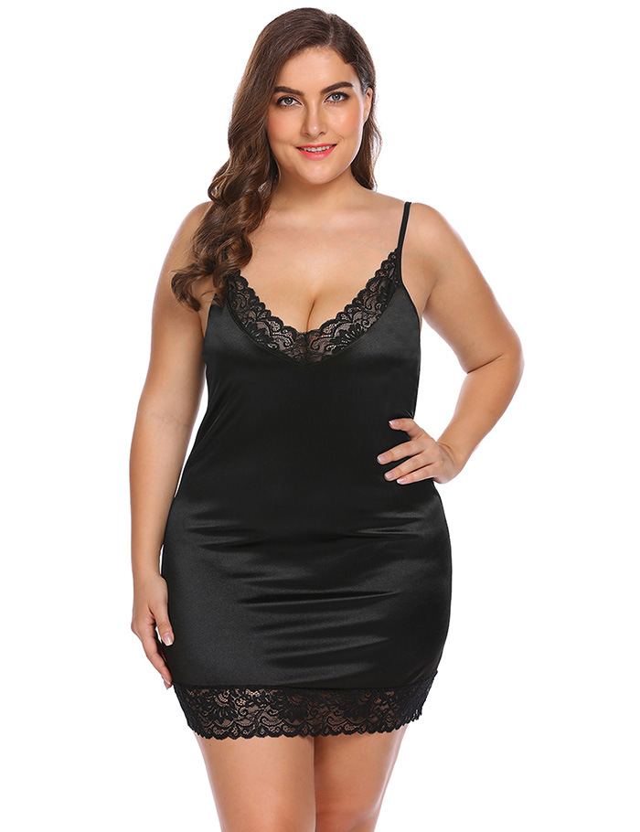 Deep V Sling Sexy Lingerie Sexy Hot Erotic Lace Sexy Nightdress Plus Size Lingerie Bag Hip Ice Nightdress Sex Erotic Dress New in Babydolls Chemises from Novelty Special Use
