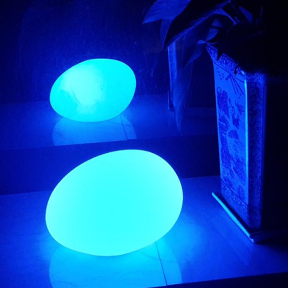 led mood lighting. cobblestone shape ip68 waterproof rgb led mood lamp rc led party light ball outdoor landscape garden for decorationin novelty lighting from lights n