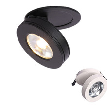 White /Black Shell Ultrathin 7W/10W/12W COB LED Ceiling Spot Light, COB Background Spot Lamp Angle Adjustable Lampshade 85-265V стоимость