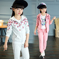 Girls clothing set Spring cotton floral sport suit teenage girls clothes children clothing set 3-12 y kids clothes tracksuit
