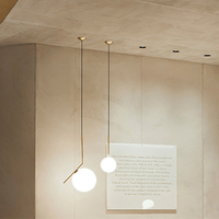 and contracted spheres droplight Italy one droplight study lamp sitting room children bedroom brass chandelier
