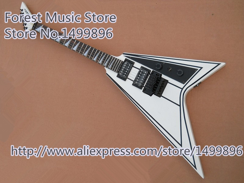Hot Selling White Jackson Electric Guitars China OEM Black Floyd Rose Tremolo Guitar For Sale hot selling cheap price sg standard electric guitar bigpsy tremolo stain finish chinese guitars in stock for sale