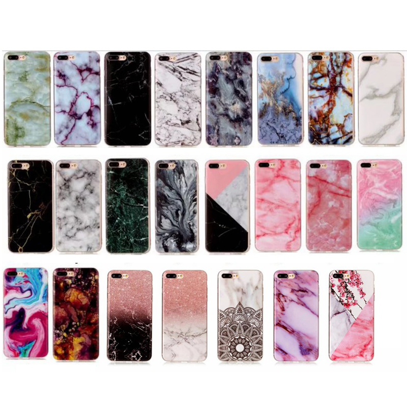 360 Marble Soft Case For iPhone X 8 7 6 5 4 iPod Touch 5 6 Soft Fit Flexible TPU Rubber Gel Skin Silicone Matte Back Shell