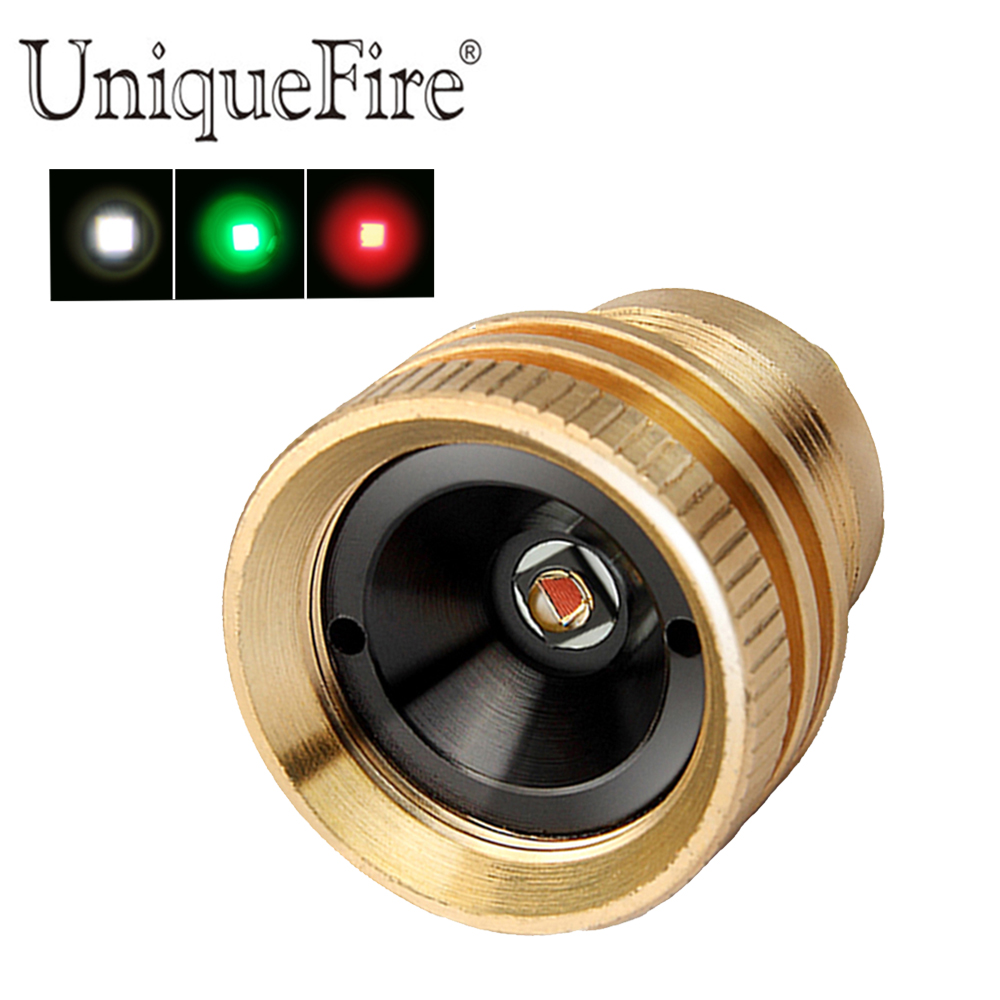 UniqueFire Drop In UF-1508 XPE LED Pill Led Brass  3 Mode Operated Lamp Holder,Green/Red/White Light