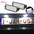 2X СИД Автомобиля Фонарь Освещения Номерного Знака 12 В SMD3528 18 СВЕТОДИОДНАЯ Лампа для Renault Megane 2 3 Лагуна Twingo Clio Мастер Vel Satis