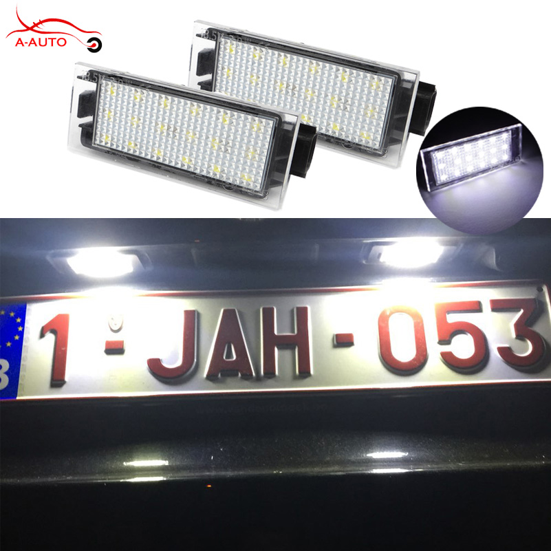2X Auto LED Kennzeichenbeleuchtung 12 V SMD3528 18 LED Lampe für Renault...