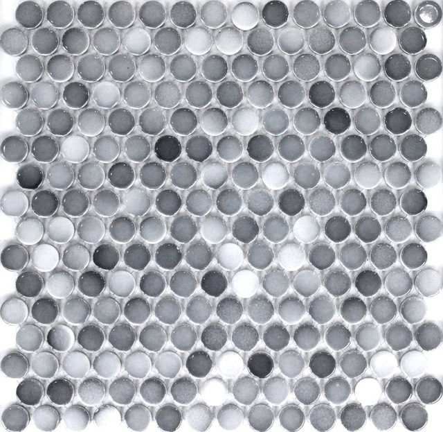 Mode gris ronde en céramique carreaux de mosaïque cuisine dosseret ...