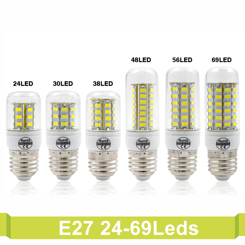 T.Y.S LED Corn Bulb light Chandelier Bombillas Light Bulbs Ampoule Indoor Lighting LED Bulb E27 E14 G9 AC 220V SMD 5730 LED Lamp energy efficient 7w e27 3014smd 72led corn bulbs led lamps