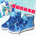 Hatsune miku cosplay accesorios hatsune miku cosplay miku hatsune zapatos blue anime zapatos ashion zapatos anime