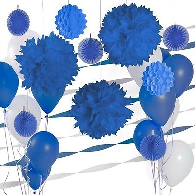 Boy baby shower decoration kits 1st birthday romantic wedding boy baby shower decoration kits 1st birthday romantic wedding decoration kit paper pom poms fans navy junglespirit Images