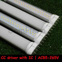 2G11 LED Light 36W 2G11 Tube LED 9W 12W 15W 18W 22W SMD2835 clear frosted Cover 85-265V Warm/Cool White Real power Free Shipping