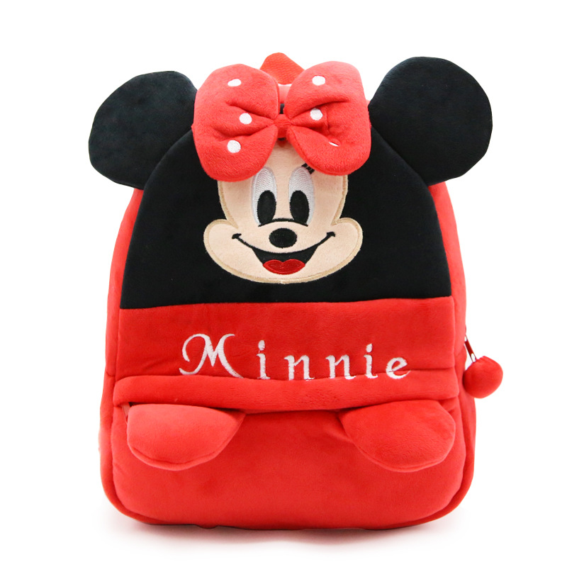 2017 New Children Cartoon Mickey Mouse and Minnie Mouse Plush Baby Backpack Cute Kids School Bags Girls Boys Backpack CNNIE 30cm mickey mouse and minnie mouse toys soft toy stuffed animals plush toy dolls
