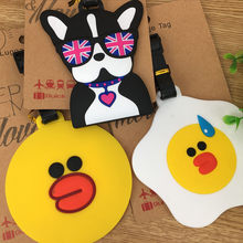 Korea series lovely expression The expression of chicken The original SuFeng dog duck animal luggage check luggage tags(China)