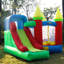 цена на Inflatable Games Castle Bouncy Castle Kids Inflatable Bounce House with Slide PVC Oxford 3.5x3x2.7M Christmas Gift Door To Door