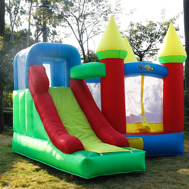 Jogos infláveis Castelo Bouncy Castelo Crianças Inflável Da Casa do Salto com Slide PVC Oxford 3.5x3x2.7 M Natal dom Porta A Porta