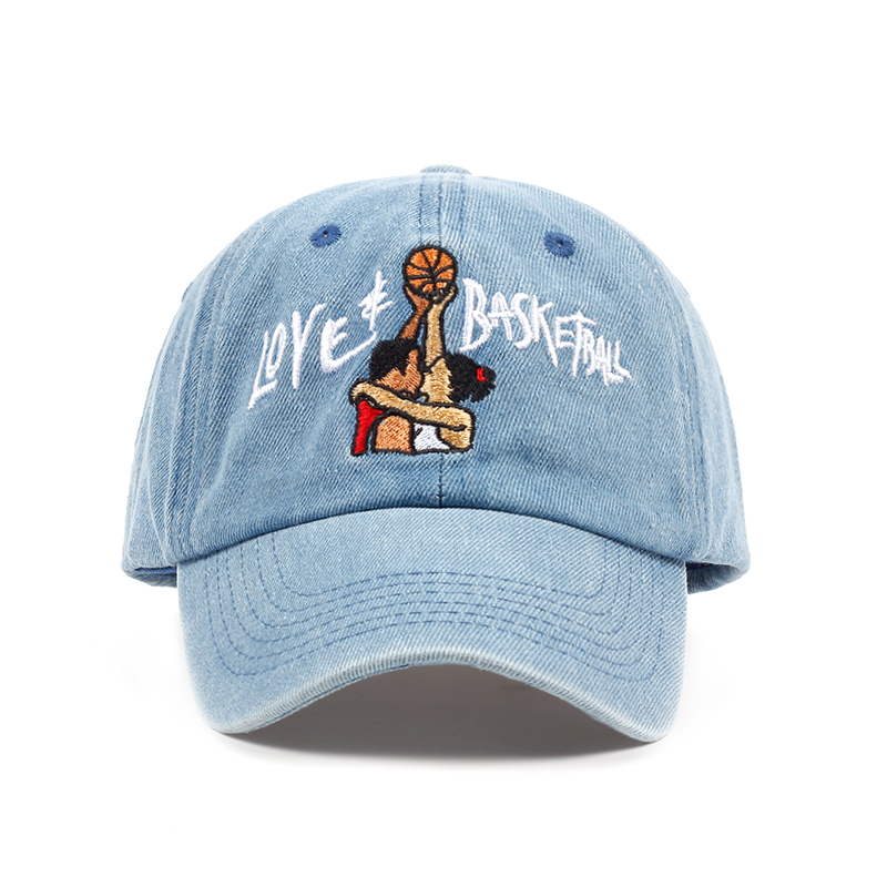 new cotton Dad Hats Love & Basketball Embroid Gorras Snapback sky blue black Baseball Cap Movie OG 90s Vtg Hip Hop Summer Hat brushed cotton twill ivy hat flat cap by decky brown