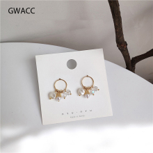 GWACC 2019 New Design Pearls Stud Earrings For Women Girls Korea Modern Minimalist Fashion INS Style Heart Jewelry boho