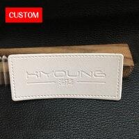 Фабрика private customzied круглый Искусственная кожа этикетки с тиснением шитья на одежду ручной работы натуральная кожа знаки кожаный лейбл