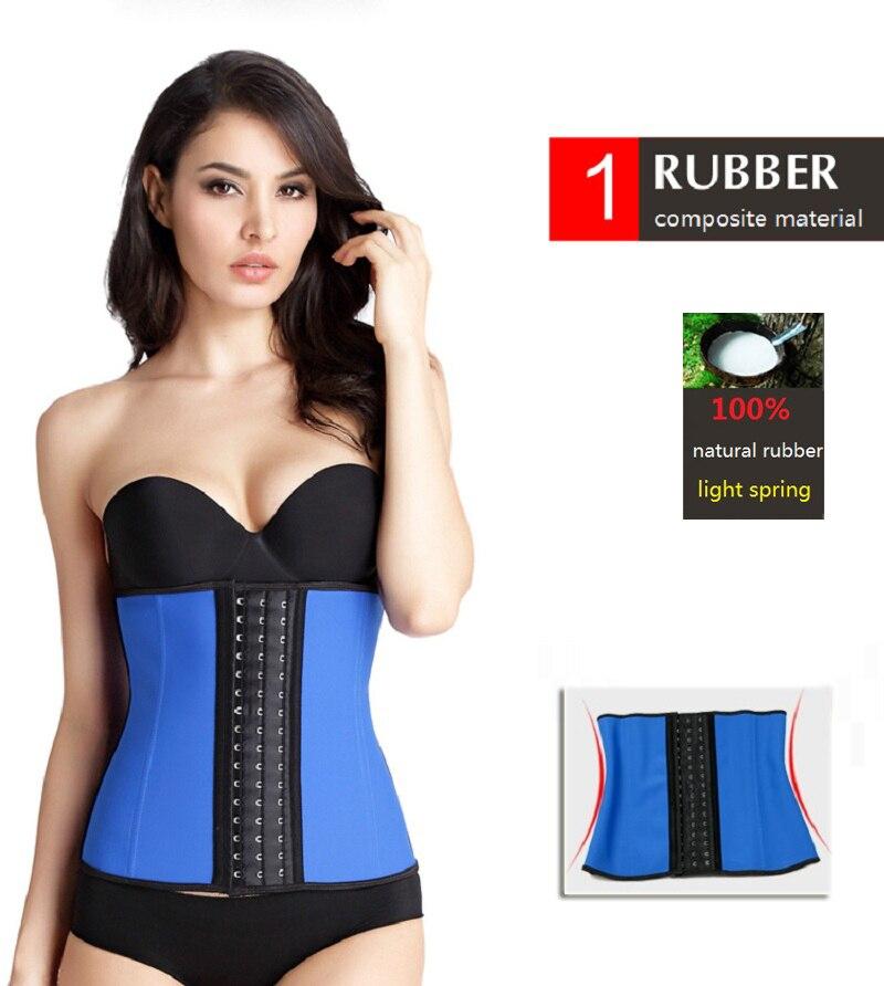 NINGMI Rubber Body shaper for women sexy lady Shapewear Waist Trainer Cincher loseweight Shaper Burning Slim Belt Corset Bustier 2