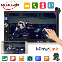 Autoradio 2 din 7'' Android Car Radio Mirror Link Bluetooth MP4 MP5 Player Touch Screen Video Output Rear Camera