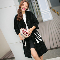 Европейский и американский стиль  длинное пальто из мериносовой овечьей шерсти  Женское зимнее пальто  Женское пальто из настоящего овечье...
