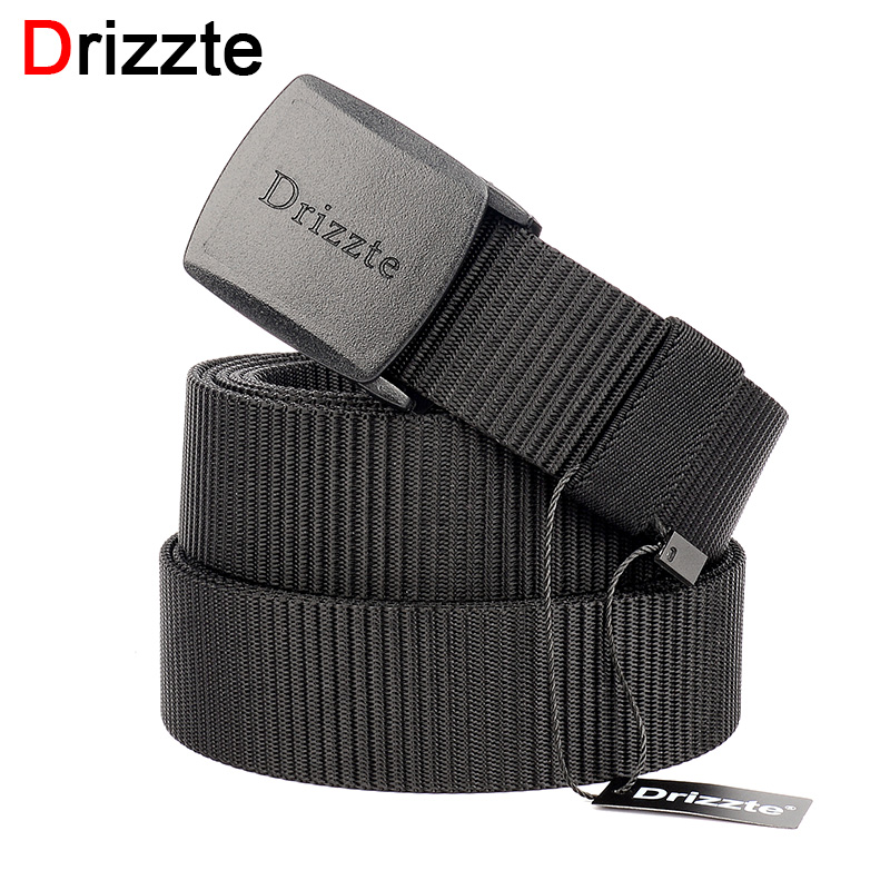 Drizzte Mens Plus Size Nylon Web Belt 130 140 150 160 180cm Webbing YKK POM Plastic Buckle 51 to 71inch Duty Belt for Big Men belt