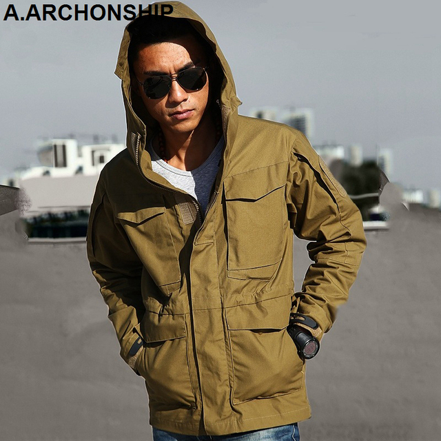 M65 UK US Army Clothes Windbreaker Military Field Jackets Mens Winter/Autumn Waterproof Flight Pilot Coat Hoodie Three colors 4