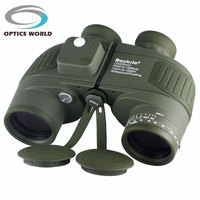 Tactical Military Boshile 10x50 132M 1000M Navy Binoculars With Rangefinder And Compass Reticle Illuminant Telescope Waterproof