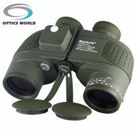 Tactical Military Boshile 10x50 132M 1000M Navy Binoculars With Rangefinder And Compass Reticle Illuminant Telescope Waterproof
