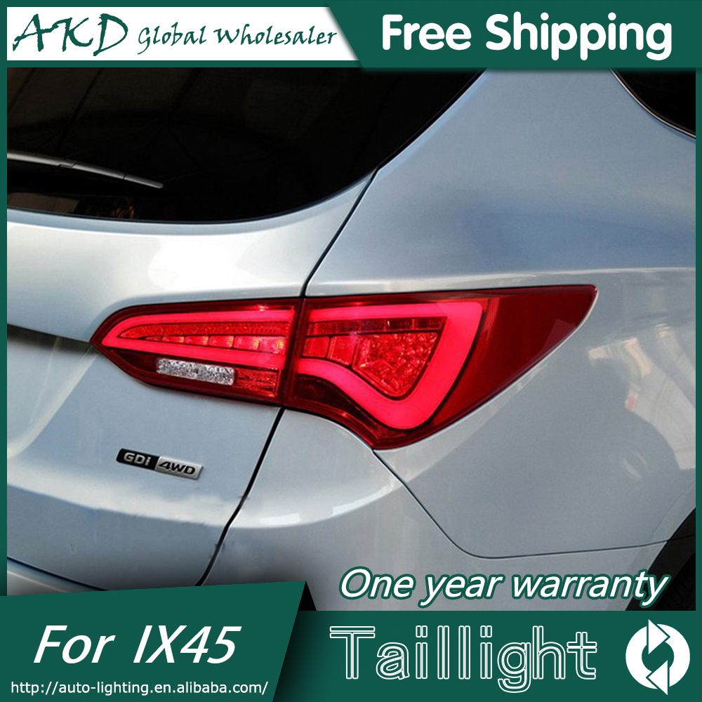 AKD Car Styling for Hyundai IX45 Tail Lights 2010-2015 New Tuscon LED Tail Light Rear Lamp DRL+Brake+Park+Signal