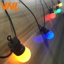 Vnl ip65 lâmpada led g50, multicolor, conector, para áreas externas, colorida, para casamento, natal, para festa