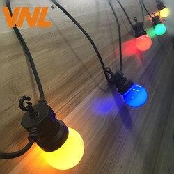 Vnl ip65 led globo g50 multicolorido lâmpada corda conectável ao ar livre colorido luzes da corda para o casamento festa de natal guirlanda