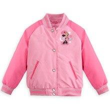 2016 Минни куртка высокого качества внутри бархат розовая девушка пальто