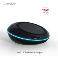 Amstar 10W Fast Qi Wireless Charger Quick Charger For Galaxy S8 S8 S7 TI Chip Wireless
