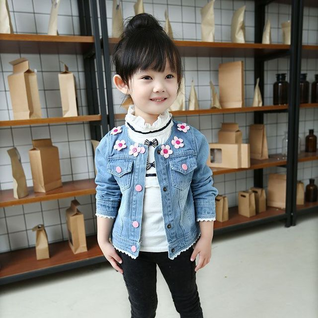34175bce9 Girls autumn jacket 2-3 years old baby clothes in the spring and autumn  autumn children thin baby 0-1-5 denim jacket