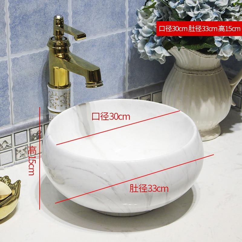 30 Cm Kecil Vintage Eropa Gaya Seni Counter Basin Wastafel Buatan Tangan Vessel Sink Wastafel Seni Keramik Wastafel Kamar Mandi Wastafel Bathroom Sinks Aliexpress
