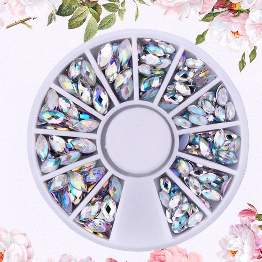 New Nail Art Decoration Phone Paste Drill Round Diamond Rhinestones in Rhinestones Decorations from Beauty Health