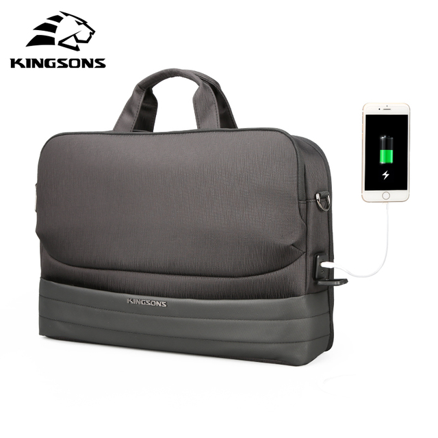 Kingsons New Men 15.6 Inch Laptop Briefcase Bag Handbag Mens Nylon Briefcase Men's Office Bags Business Computer Bags
