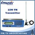 Бесплатная доставка FMUSER FU-15B 15 Вт FM передатчик USB программное обеспечение управления ксв-метр + автомобиль клип антенна + блок питания