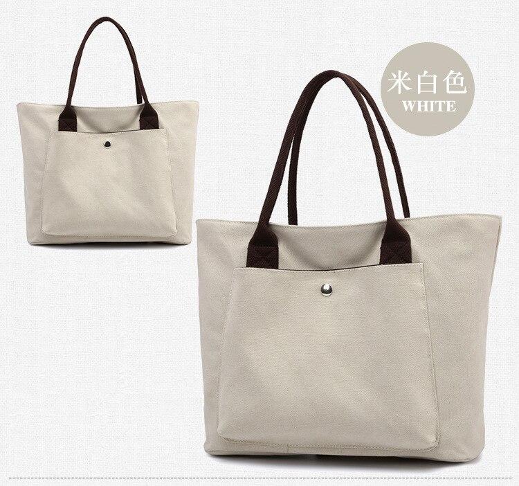 06229d3dfbf9 Женские холщовые сумки высокого качества женские вместительные Сумки на  одно плечо винтажные однотонные многокарманные женские сумки Bolsas