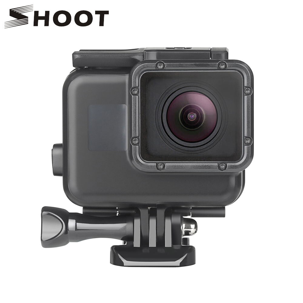 c8d6013b2bff SHOOT 45m Underwater Waterproof Case for Gopro Hero 7 5 6 Black Edition  Protective Cover Mount For GoPro 5 6 7 Go pro Accessory-in Sports Camcorder  Cases ...
