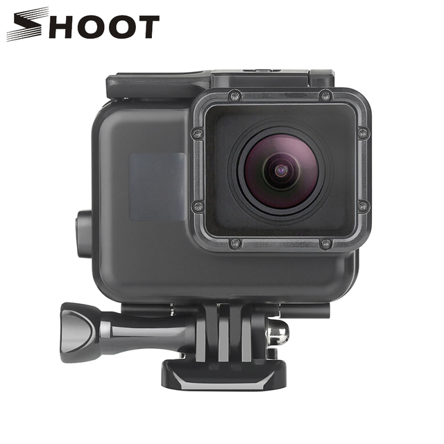 ab8c660d69dd SHOOT 45m Underwater Waterproof Case for Gopro Hero 7 5 6 Black Edition  Protective Cover Mount