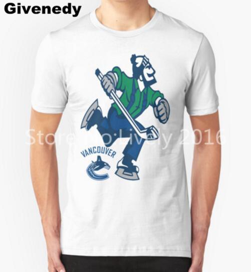 2016 canadá canucks camisa de t dos homens de manga curta de algodão dos homens dos homens t-shirts moda hip hop clothing