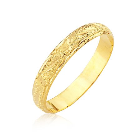 MxGxFam Classic Embroidery 24 K Wedding Bangle (60*60mm) Women for Free Shipping