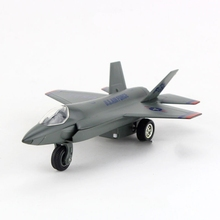 Freeshipping Children Caipo F-35 Lightning II Fighter diecast Metal Plane Toy Sound & Flashing & Pull Back Present Kids Gift