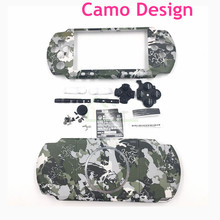 For PSP3000 Camo Design Housing Shell Case replacement for PSP 3000 Full Housing Cover with Buttons Kit