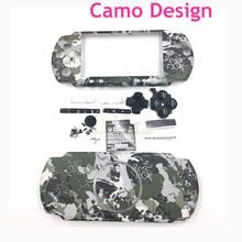 עיצוב הסוואה לpsp3000 מקרה פגז החלפת דיור עבור PSP 3000 ערכת כיסוי דיור מלא עם כפתורים
