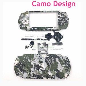 Image 1 - עיצוב הסוואה לpsp3000 מקרה פגז החלפת דיור עבור PSP 3000 ערכת כיסוי דיור מלא עם כפתורים
